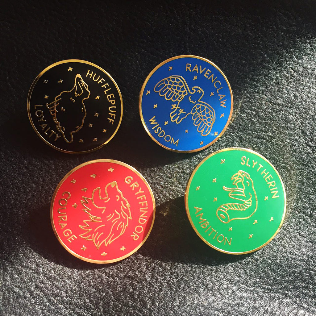 Set of 4 Harry Potter Enamel Pins