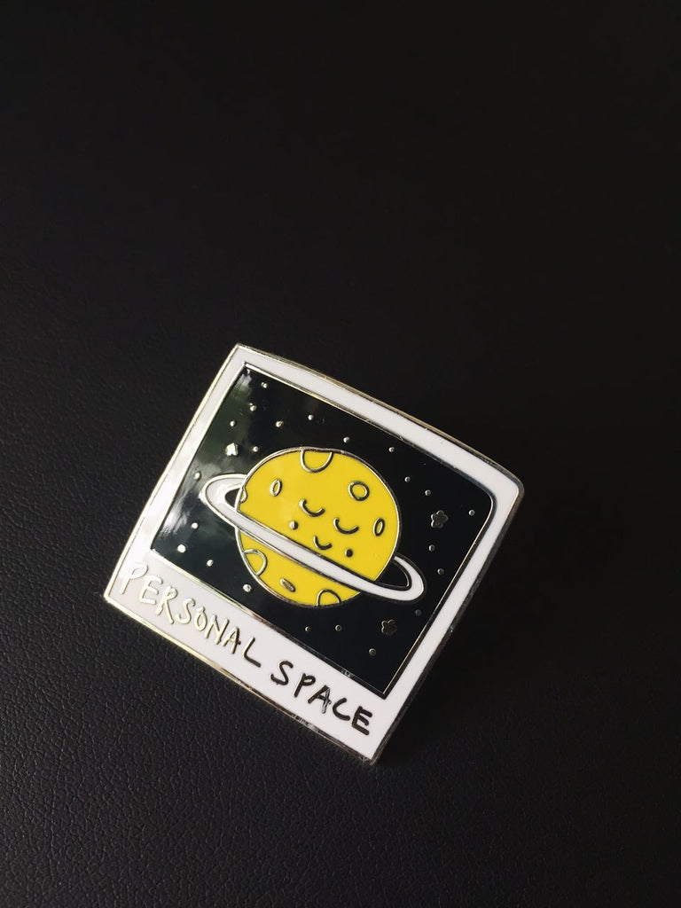 Personal Space Enamel Pin