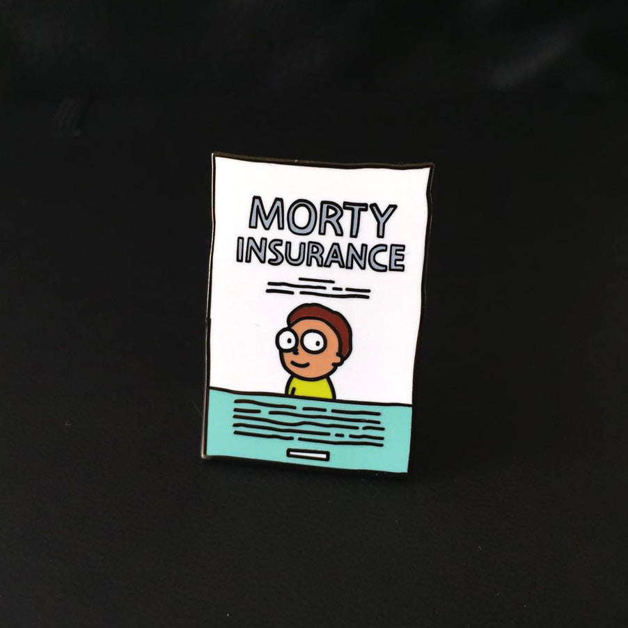 Morty Insurance Enamel Pin