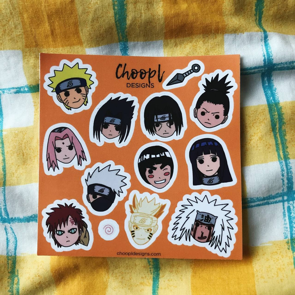 Naruto Sticker Sheet - 13 Stickers