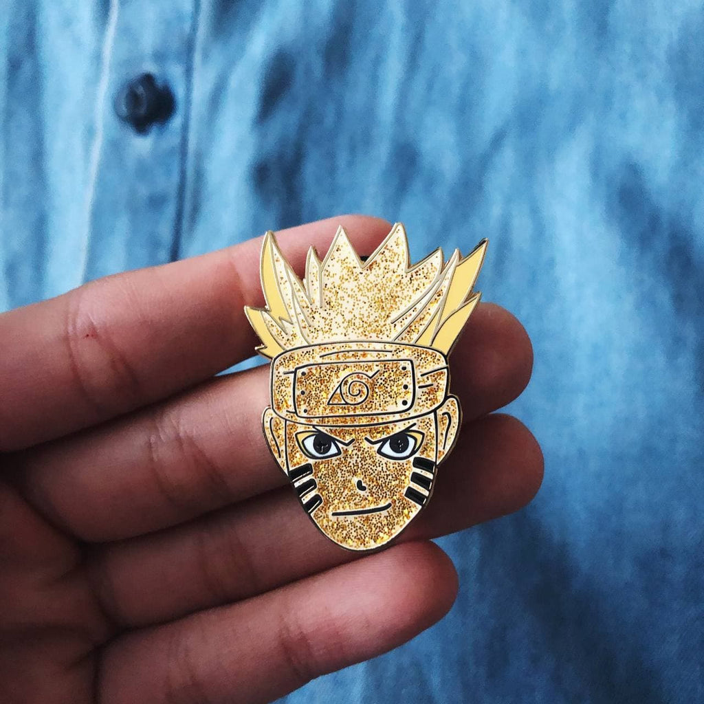 Seconds: Naruto Kyuubi LIMITED EDITION Glitter Hard Enamel Pin