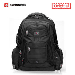 Swisswin 17 inch Men s Laptop Backpack Waterproof Nylon Notebook Computer  Bag High Quality 37L Big Travel c1ac00fb0f