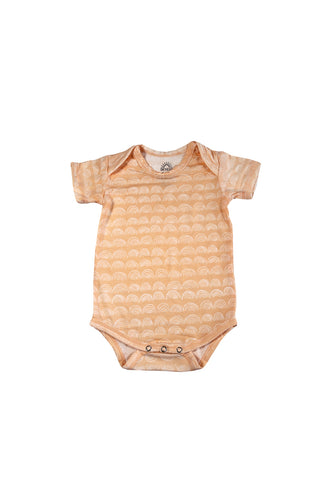 SKYE HI | Short Sleeve Onesie | Beach Sand Rainbow