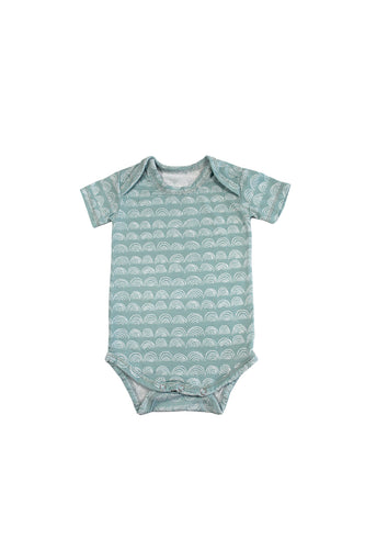 SKYE HI | Short Sleeve Onesie | Surfspray Rainbow