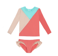PACIFIC RAINBOW | Two-piece Rash guard | Anca Nude