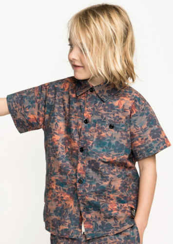 MUNSTER KIDS | Dead Palms Shirt | Blue Coral