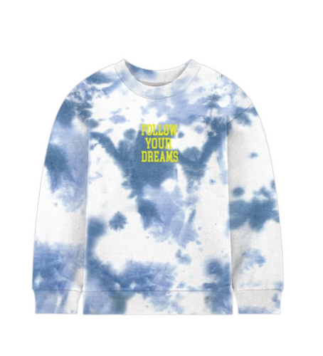 PORT 213 | Dreams Crew Neck | Blue Tie-Dye
