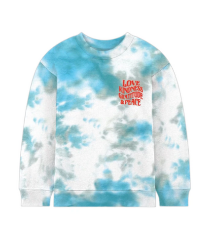 PORT 213 | Kindness Crew Neck | Teal Tie-Dye