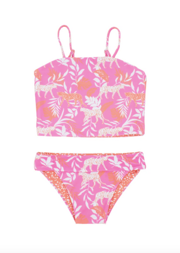 FEATHER 4 ARROW | Reversible Lost in Paradise Two-Piece | Coral Crush
