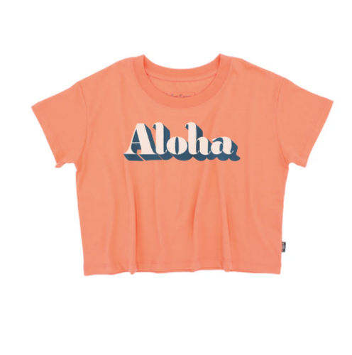 FEATHER 4 ARROW | Aloha Crop Tee | Coral