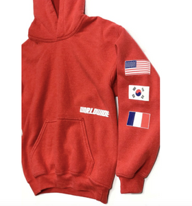 PORT 213 | Worldwide Flag Hoodie | Red