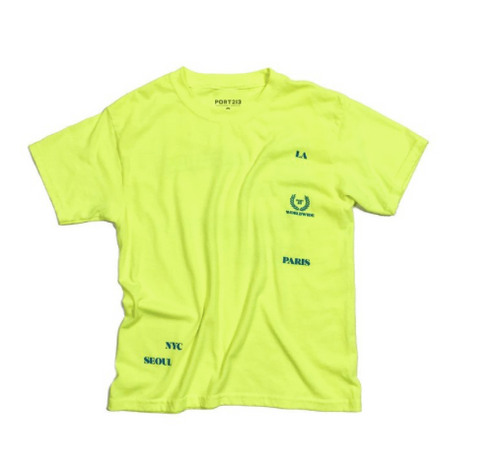 PORT 213 | Cities Tee | Neon Green