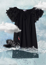 Beach Dress In Black with Petals for Girls