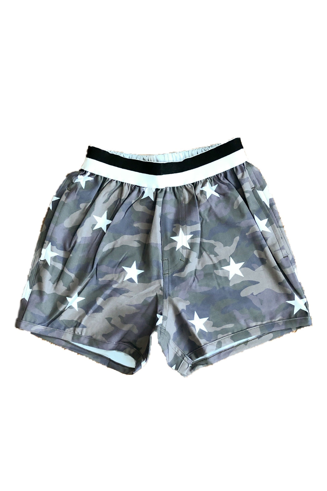 LITTLE RUKI | Soporro Swim Short  | Camo + Stars