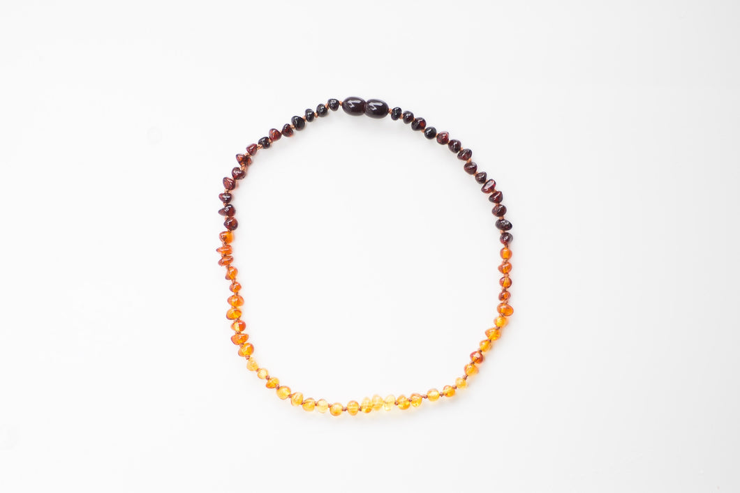 ELLA MAY | AMBER TEETHING NECKLACE | OMBRÉ