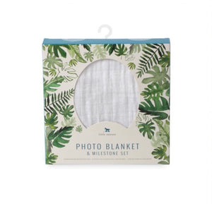LITTLE UNICORN - Photo Blanket - Tropical Leaf