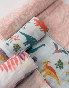 LITTLE UNICORN - Swaddle Set - Cotton Muslun - Jurassic World