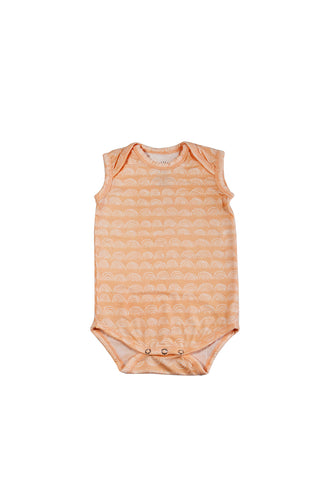 SKYE HI | Sleeveless Onesie | Beach Sand Rainbow