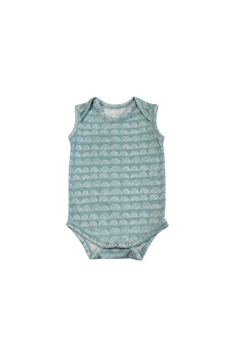 SKYE HI | Sleeveless Onesie | Surfspray Rainbow