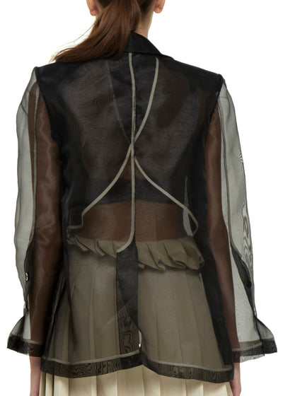 Organza black jacket back