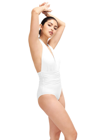 Eva White One Piece Swimsuit
