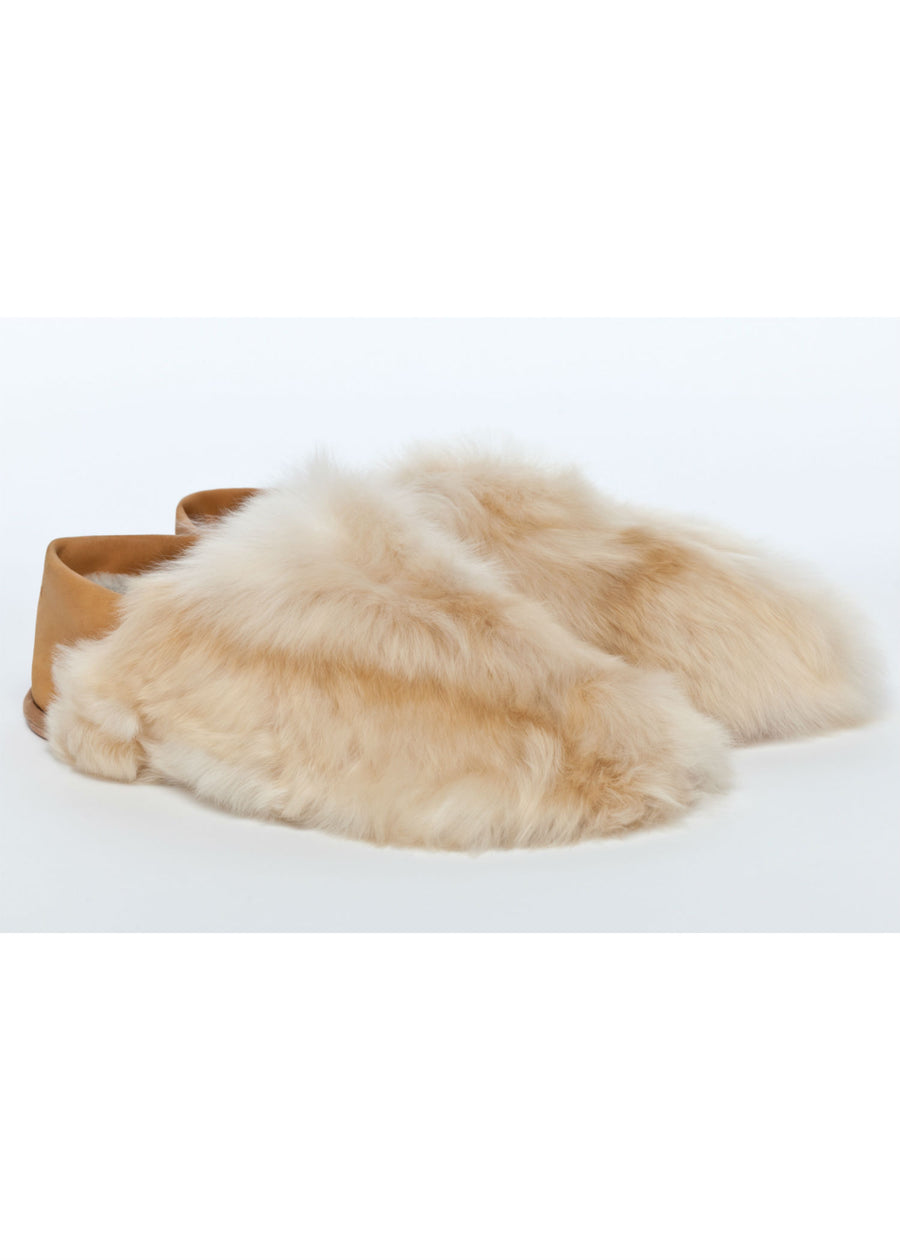 Almond Satin Express Slippers