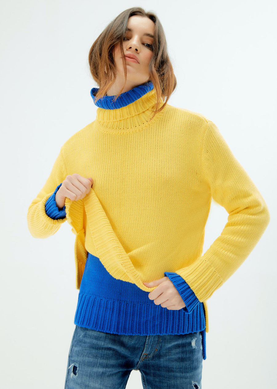 Knit Sweater-Canary