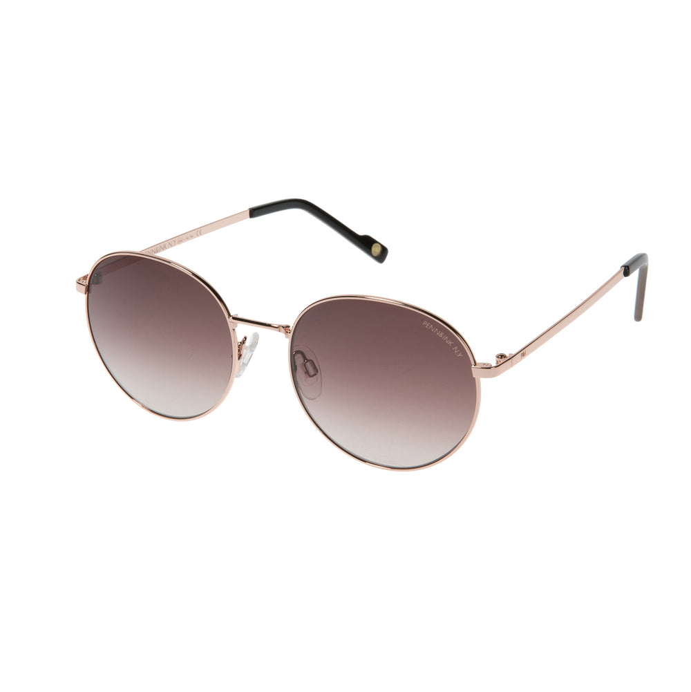 816- shiny rose gold / lens brown degradé