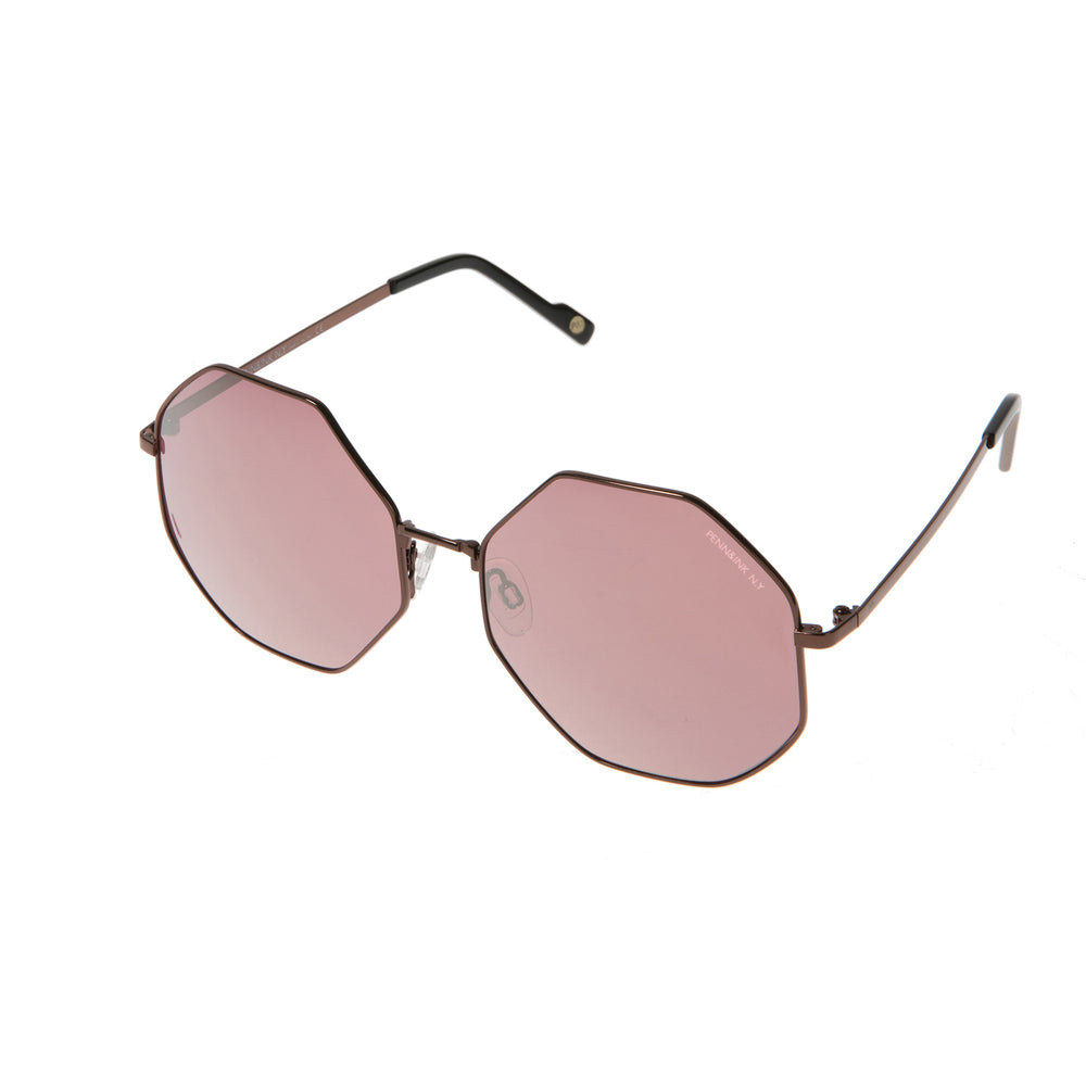 818- shiny dark bronze / lens pink