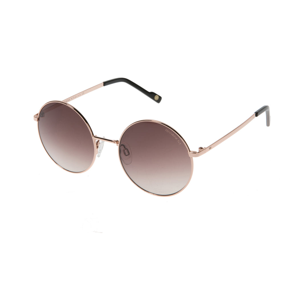 816- shiny rosé gold / lens brown degradé