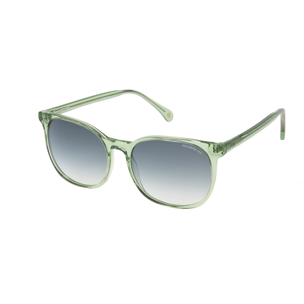 828- light green tranparent / lens grey degradé