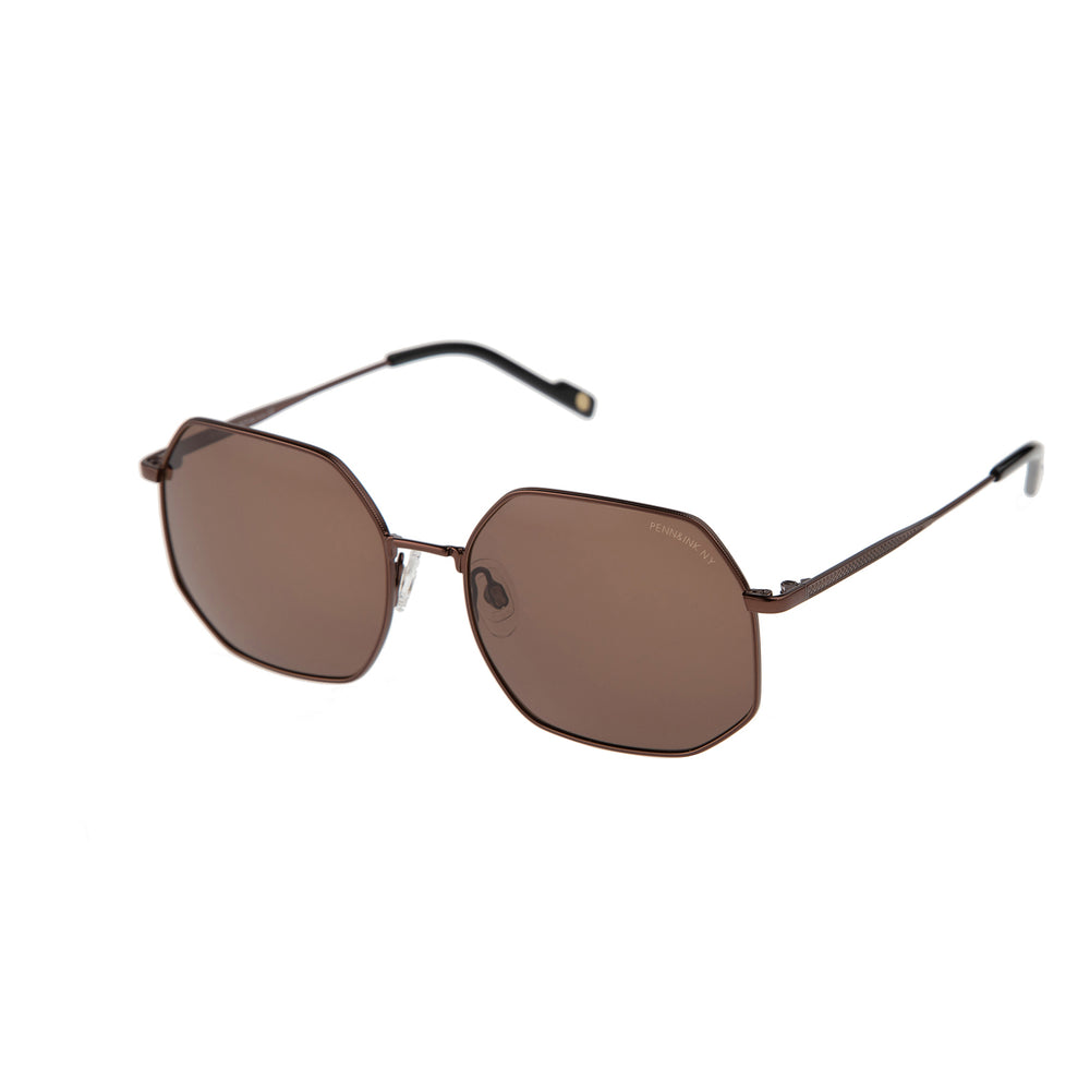 818- shiny dark bronze /  lens brown