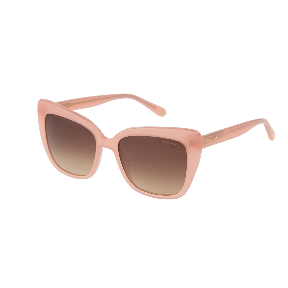 835- pink milky / lens brown degradé