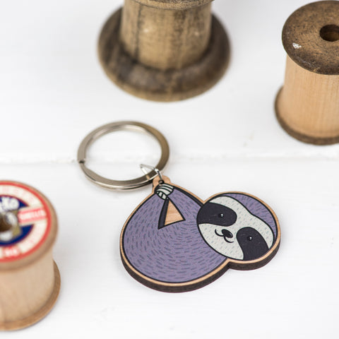 Sloth Keyring by Miss Shelly Designs