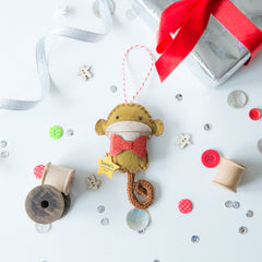 Miss Shelly Designs new monkey Christmas decoration