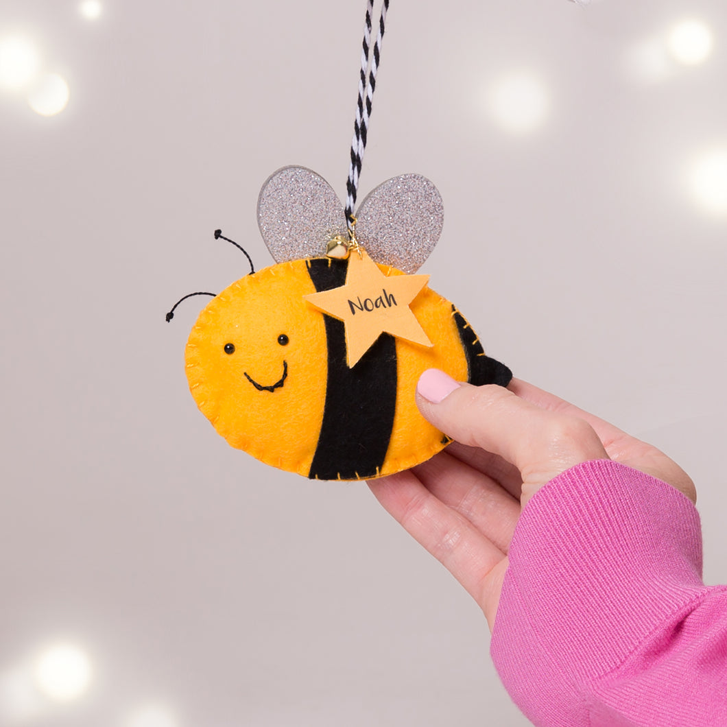 Personalised Bee Decoration