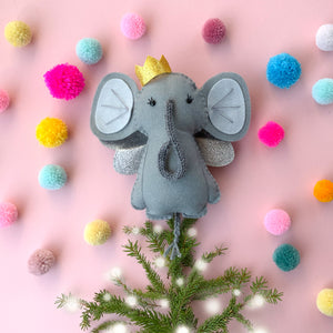 Elephant Christmas Tree Topper