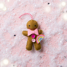 Load image into Gallery viewer, Gingerbread Man Decoration - Choose Your Colours