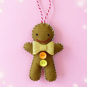 Gingerbread Man Decoration - Choose Your Colours