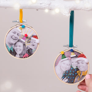 Embroidered Photo Hoop