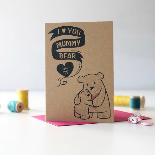 Personalised Mummy Bear Card
