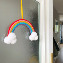 Load image into Gallery viewer, Knitted Rainbow Wall Hanging
