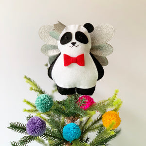 Panda Christmas Tree Topper