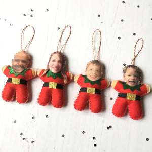 Photo Christmas tree decoration