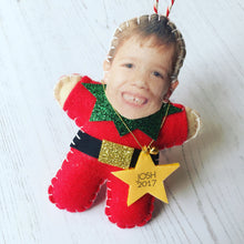 Load image into Gallery viewer, Your face on a Christmas decoration