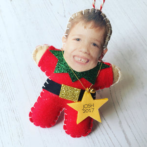 Your face on a Christmas decoration
