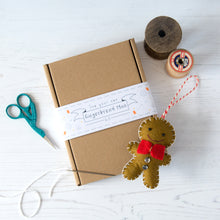 Make your own gingerbreand man sewing kit