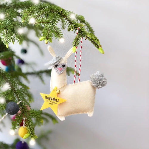 llama christmas tree decoration
