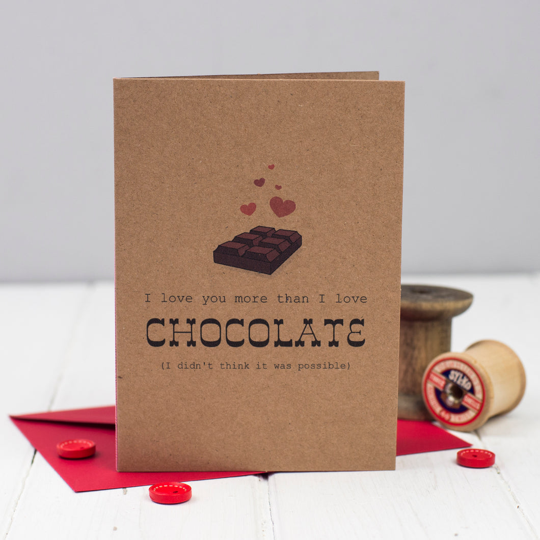 Chocoholic anniversary or Valentine's day Card