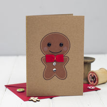 Handmade Gingerbread Man Card